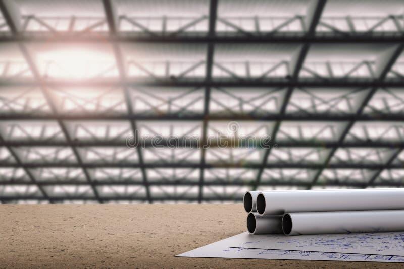 Concept d'ingénieur civil illustration stock