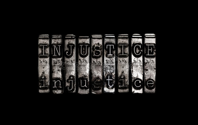Concept d'injustice photos stock