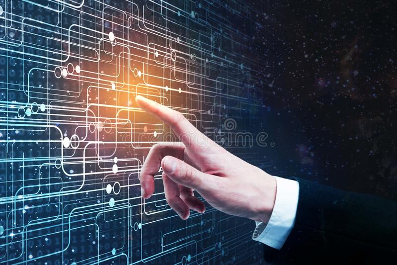 Concept d'innovation et de cyberespace images libres de droits