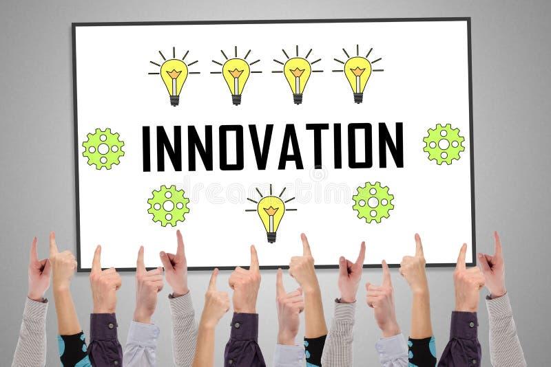 Concept d'innovation sur un tableau blanc image libre de droits