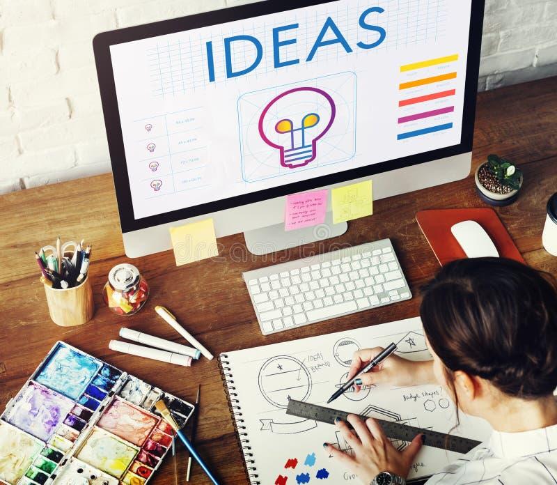 Concept d'inspiration d'imagination de créativité d'ampoule d'idées photo stock