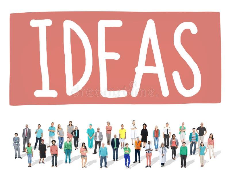 Concept d'inspiration de vision de créativité de conception d'idée d'idées image stock