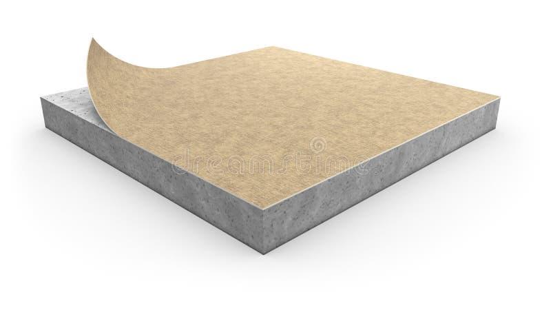 Concept d'installation de couverture de plancher de linoléum illustration de vecteur