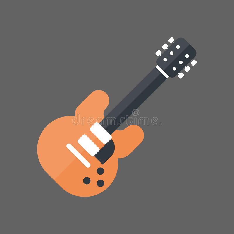 Concept d'instrument de musique d'icône de guitare électrique illustration libre de droits