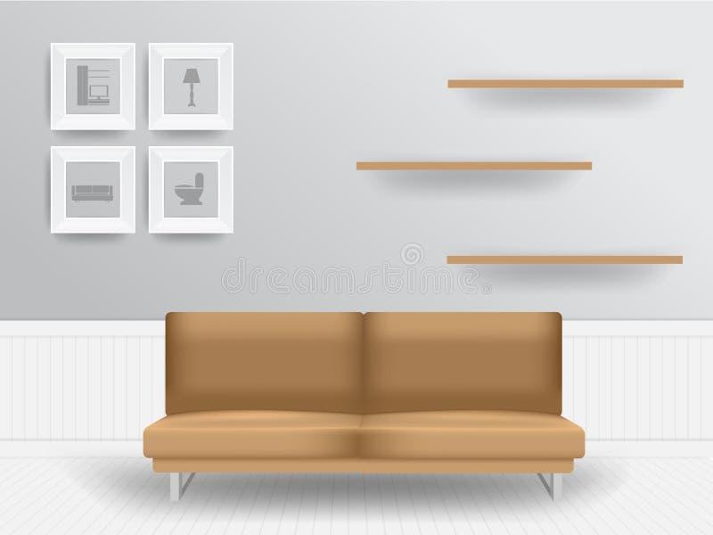 Concept d'intérieur de salon de vecteur illustration de vecteur