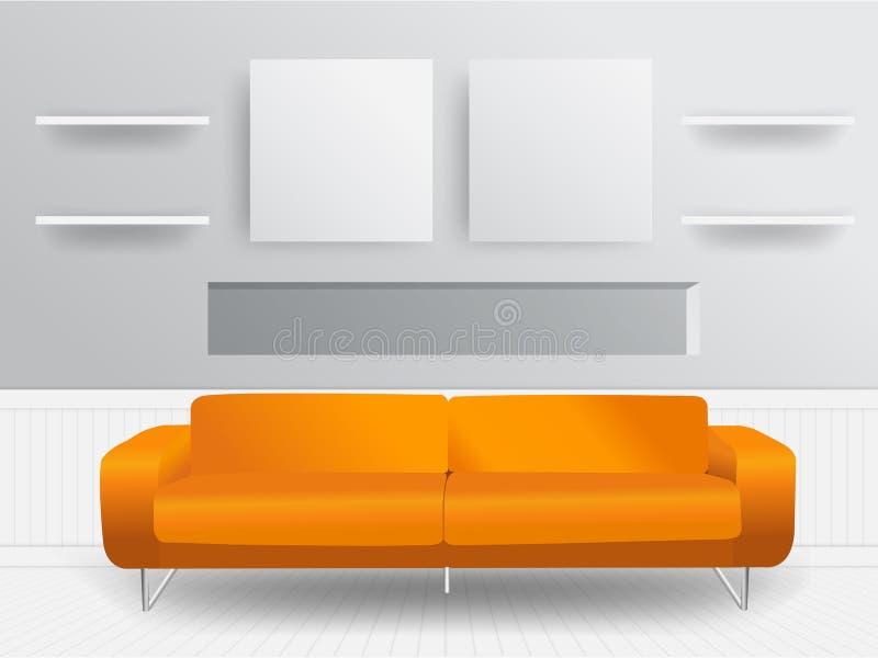 Concept d'intérieur de salon de vecteur illustration stock