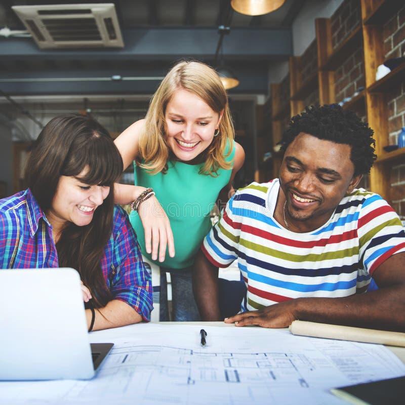 Concept d'intérieur de Teamwork Brainstorming Planning de concepteur images libres de droits