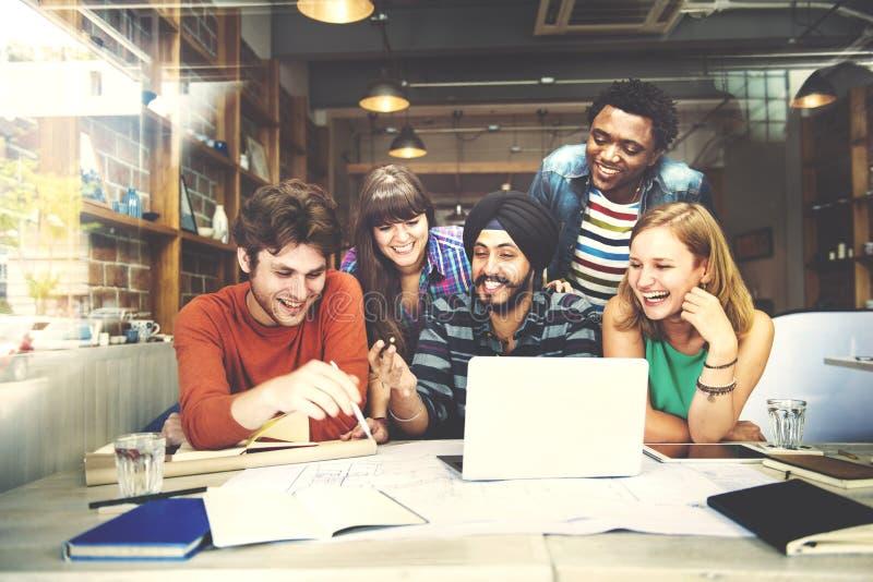 Concept d'intérieur de Teamwork Brainstorming Planning de concepteur photographie stock