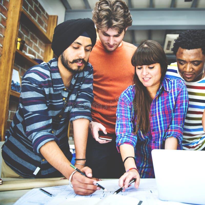 Concept d'intérieur de Teamwork Brainstorming Planning de concepteur image stock