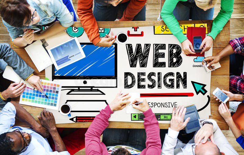 Concept d'interface d'idées de style de développement de web design images libres de droits
