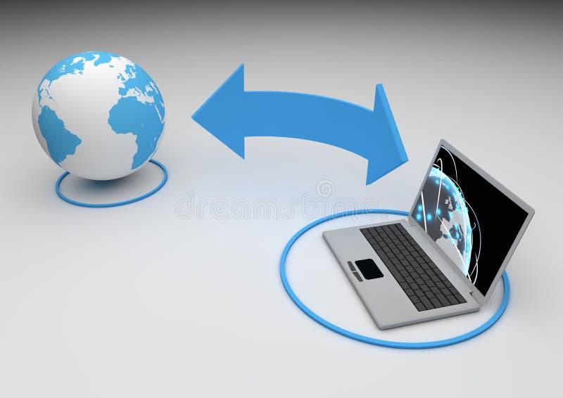 Concept d'Internet illustration de vecteur