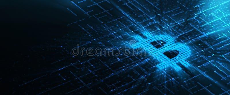 Concept d'Internet d'affaires de technologie de devise de Bitcoin Cryptocurrency illustration libre de droits