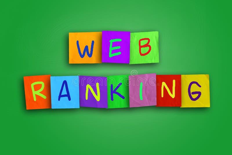 Concept d'Internet de rang de Web illustration de vecteur