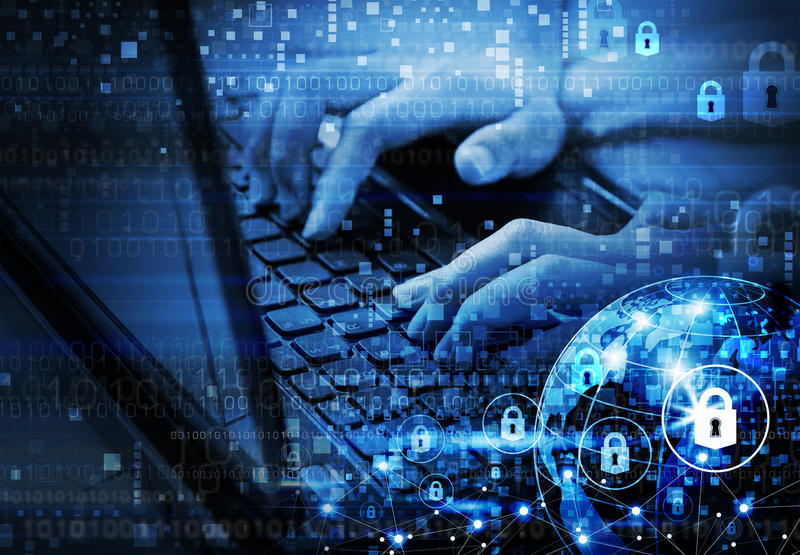 Concept d'Internet de sécurité de réseau global illustration libre de droits