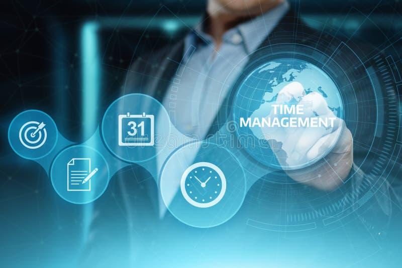 Concept d'Internet de technologie d'affaires de buts de stratégie d'efficacité de projet de gestion du temps photo libre de droits