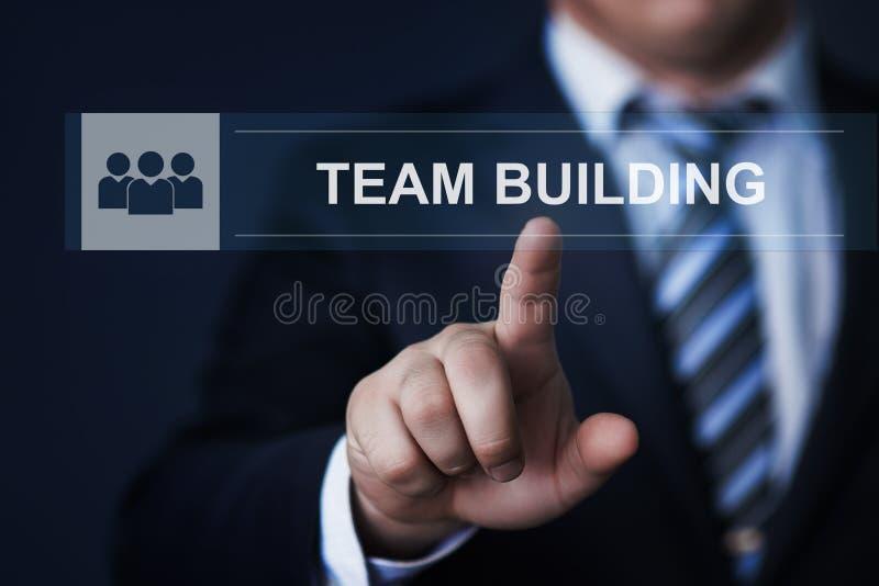 Concept d'Internet de technologie d'affaires de coopération d'association de Successs de renforcement d'équipe de travail d'équip images libres de droits