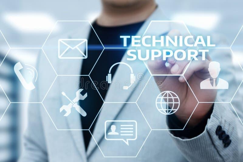 Concept d'Internet de technologie d'affaires de service client de support technique photo libre de droits