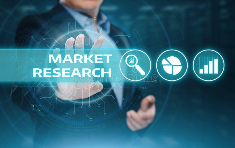 Concept d'Internet de technologie d'affaires de stratégie marketing de recherche de marché image libre de droits