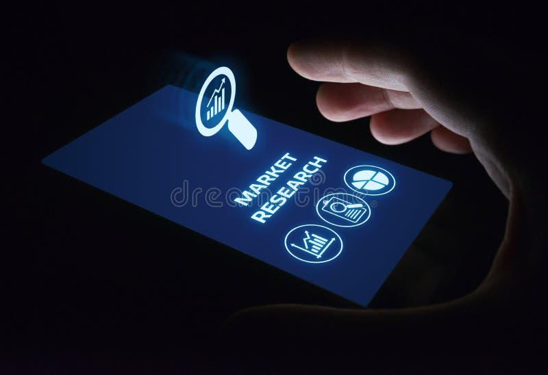 Concept d'Internet de technologie d'affaires de stratégie marketing de recherche de marché image stock