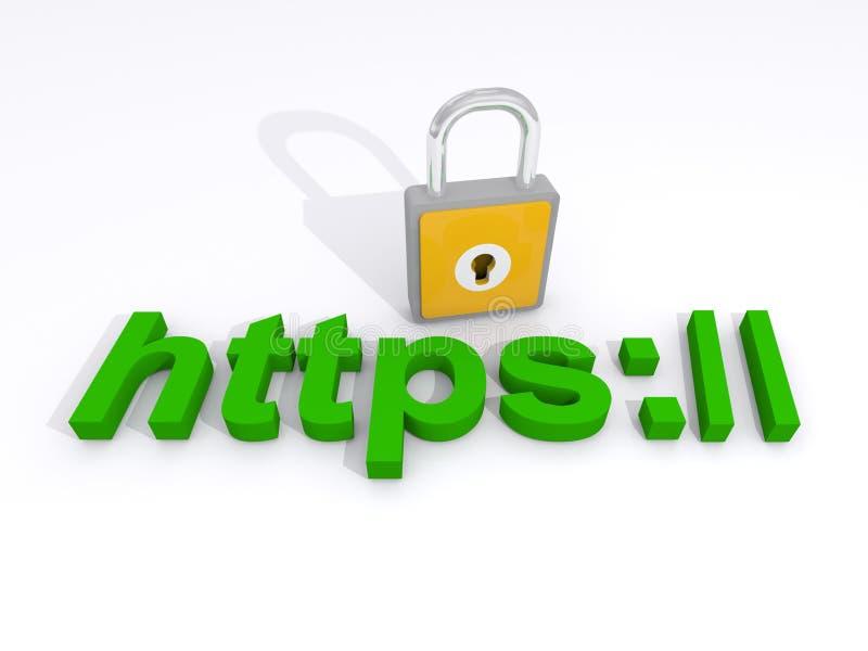 Concept d'internet sécurisé illustration stock