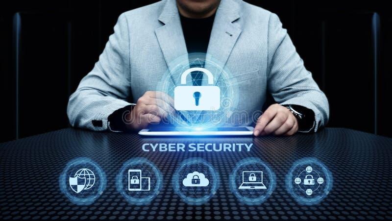 Concept d'intimité de technologie d'affaires de protection des données de sécurité de Cyber photo stock