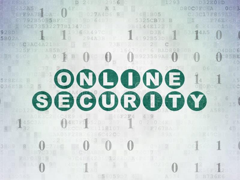 Concept d'intimité : Sécurité en ligne sur le fond de papier de données numériques illustration libre de droits