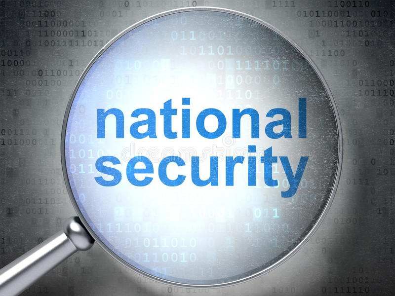 Concept d'intimité : Sécurité nationale avec optique illustration stock