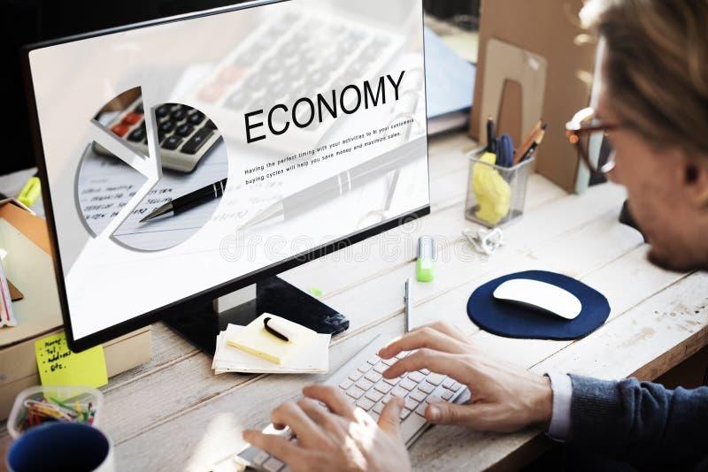 Concept d'investissement d'argent de commerce d'économie image libre de droits