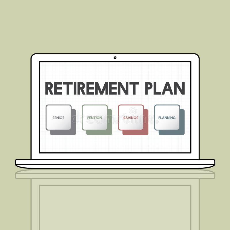 Concept d'investissement de budget de régime de retraite illustration de vecteur