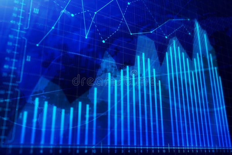 Concept d'investissement, de commerce, de finances et d'analyse photos stock