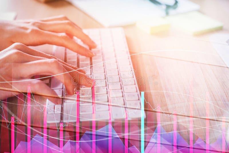 Concept d'investissement, de comptabilité et de gestion photographie stock