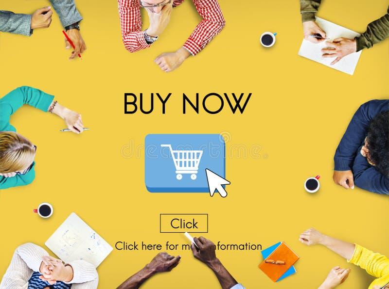 Concept d'investissement de finances d'achats d'affaires des prix d'acheter maintenant images stock