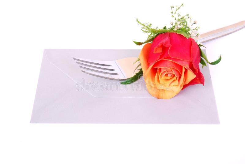 Concept d'invitation de dîner photographie stock libre de droits