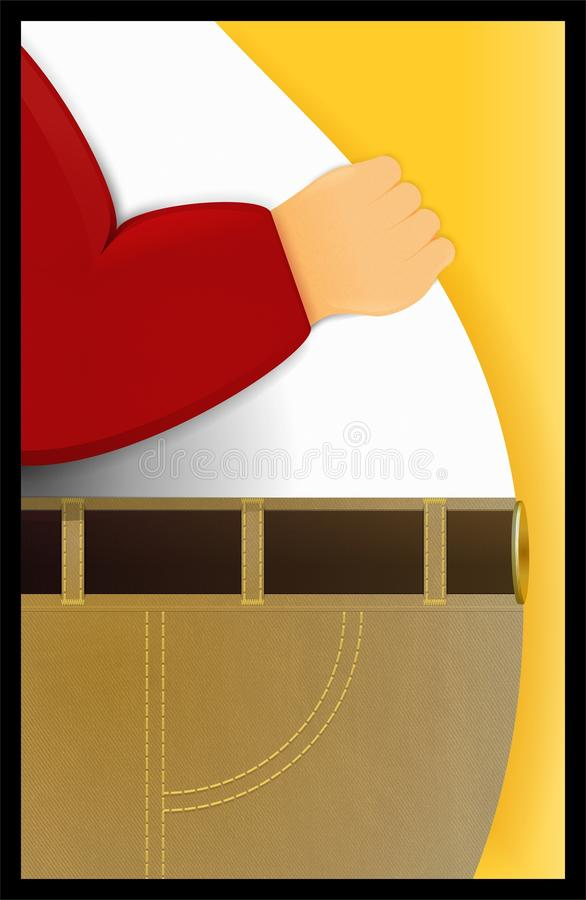 Concept d'obésité  illustration de vecteur