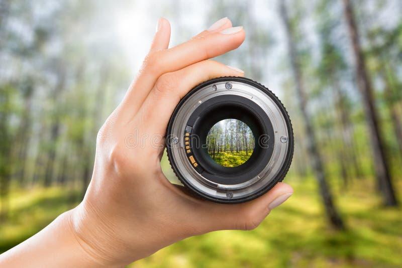 Concept d'objectif de caméra de photographie images libres de droits