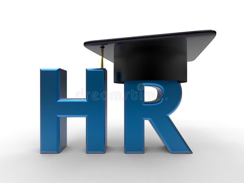 Concept 3D d'obtention du diplôme de ressource humaine illustration libre de droits