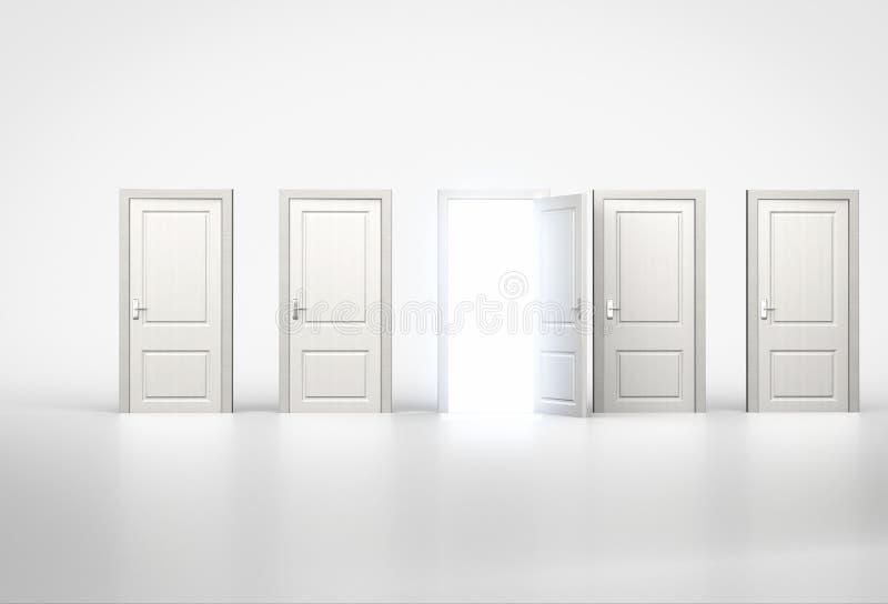 Concept d'occasion Lumière brillant par une porte dans la rangée de illustration de vecteur