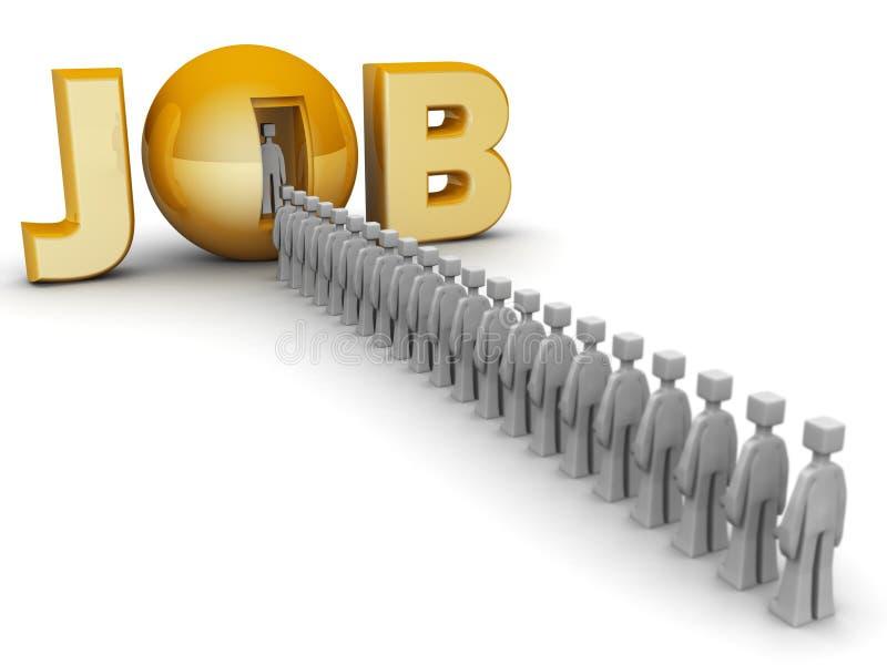 Concept d'offre d'emploi illustration de vecteur