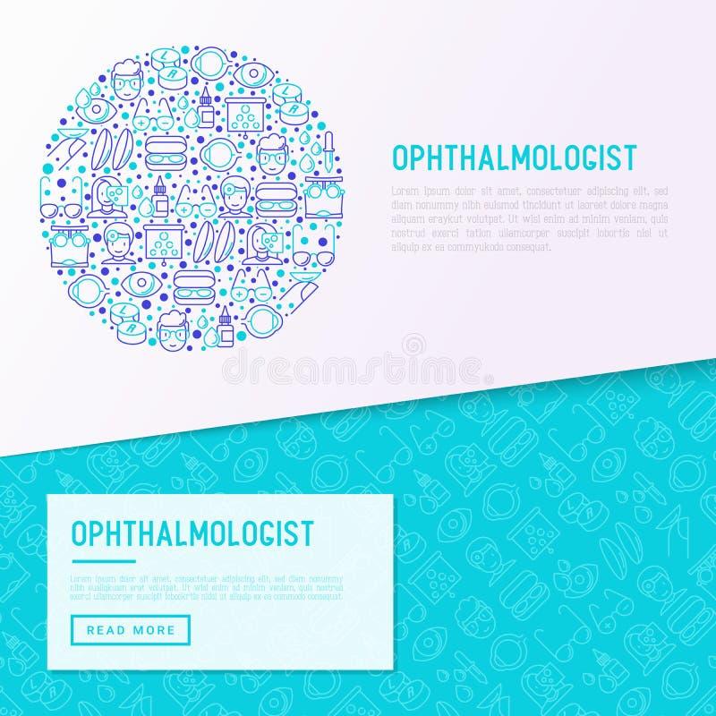 Concept d'ophtalmologue en cercle illustration stock
