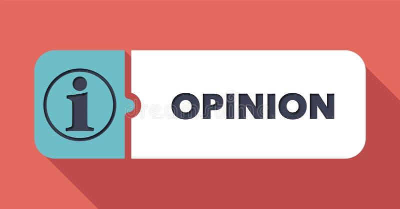 Concept d'opinion dans la conception plate. illustration stock