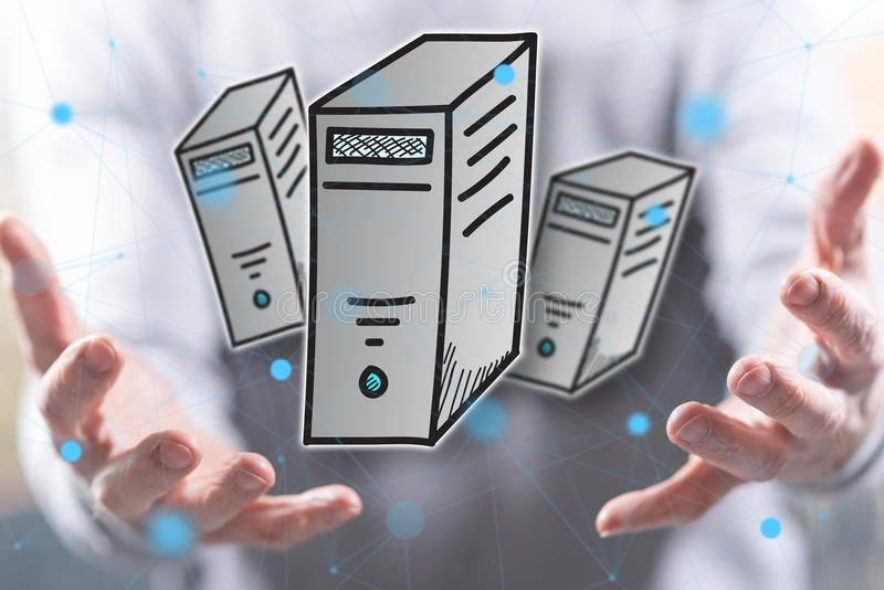 Concept d'ordinateur de bureau images stock