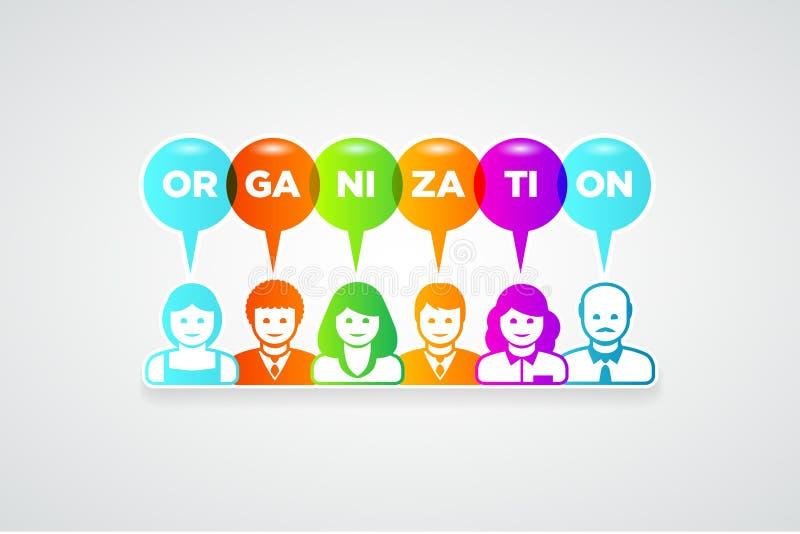 Concept d'organisation illustration libre de droits