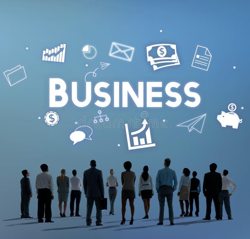 Concept d'organisation de vision de stratégie de société commerciale image libre de droits