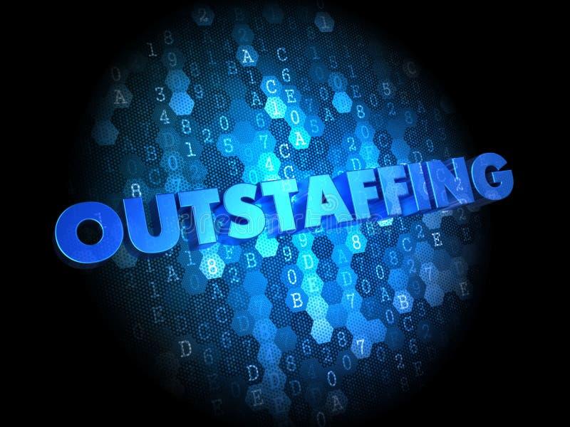 Concept d'Outstaffing sur le fond de Digital. illustration stock