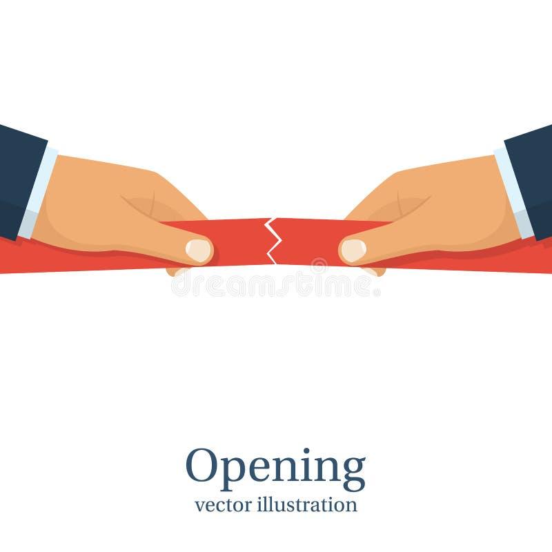 Concept d'ouverture Vecteur illustration libre de droits