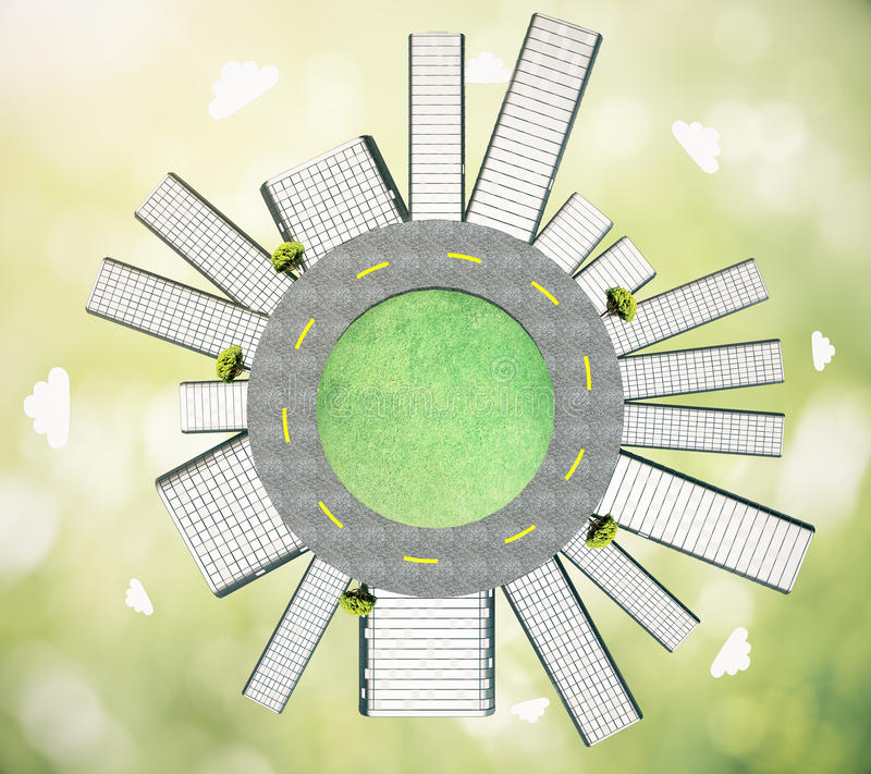 Concept d'urbanisation illustration stock