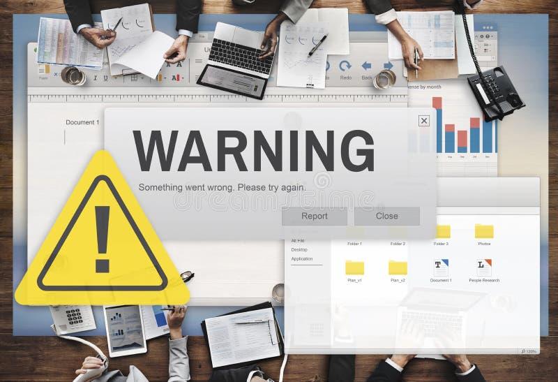 Concept dangereux d'aide de précaution d'avertissement d'accidents image stock
