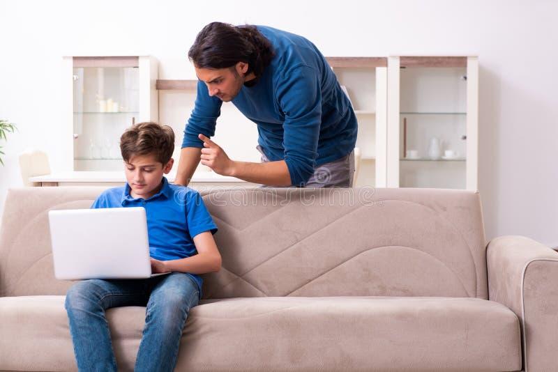Concept of dangerous habits by children stock image