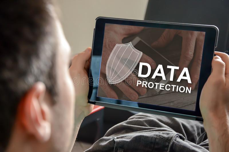 Concept of data protection royalty free stock photo