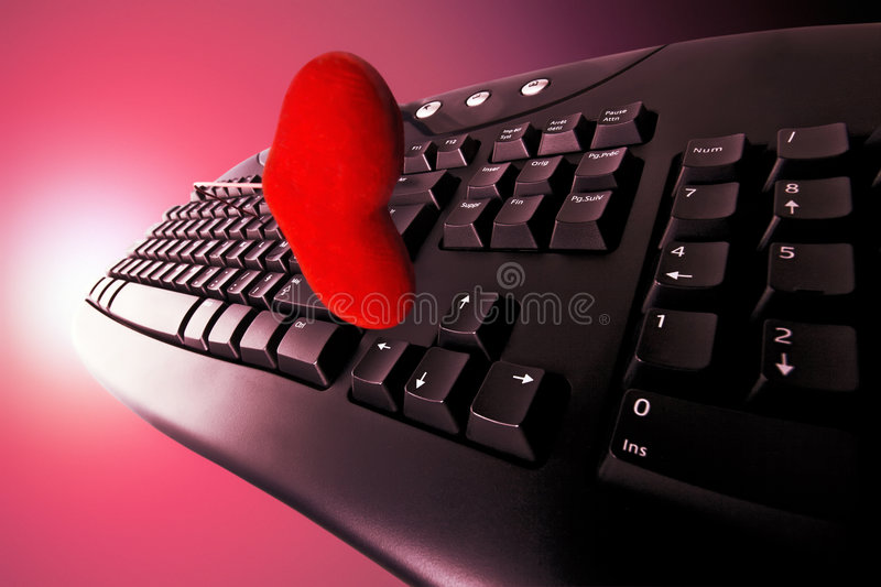 Download Concept Dating On-line In Red Stock Photo - Image: 4721644